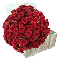 BOUQUET DE 20 ROSES RED NAOMI
