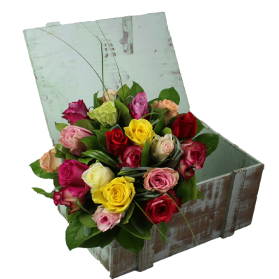 VENISE - Bouquet de roses multicolore