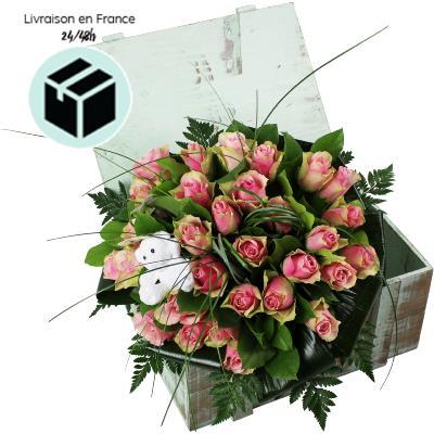 La fontaine fleurie bouquet de roses pour naissance for Bouquet de fleurs pour une naissance
