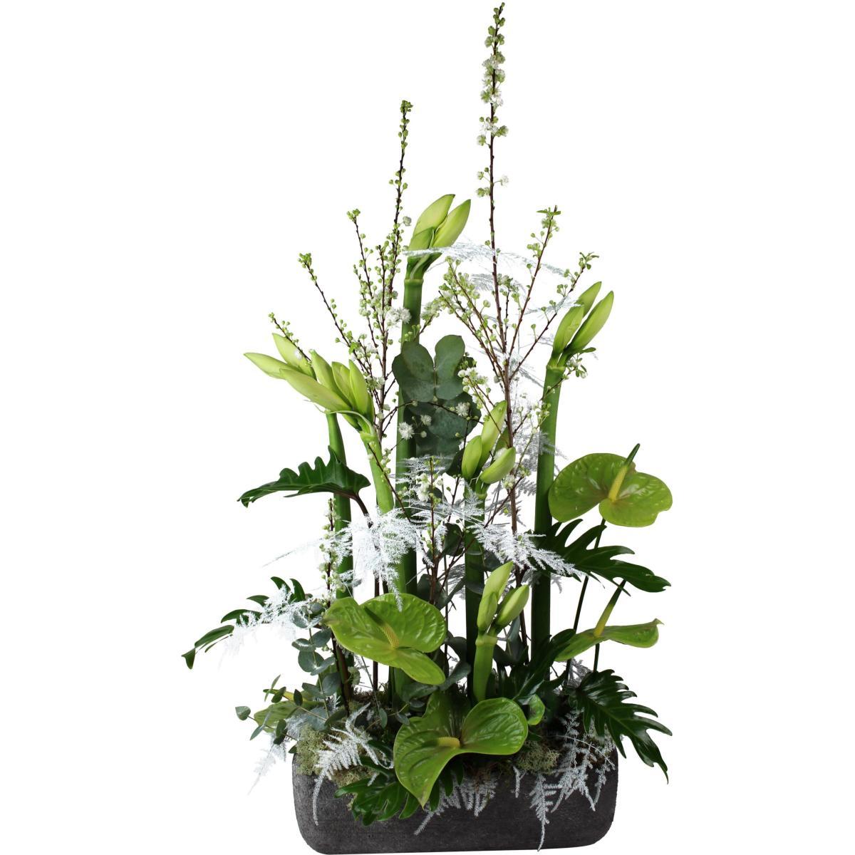la fontaine fleurie composition de fleurs exotique moderne. Black Bedroom Furniture Sets. Home Design Ideas