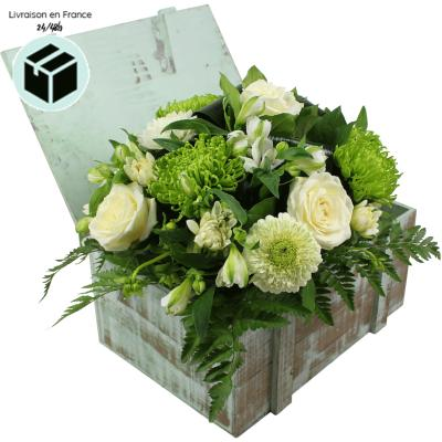 BOUQUET DE ROSES BLANCHES CHRISTINA