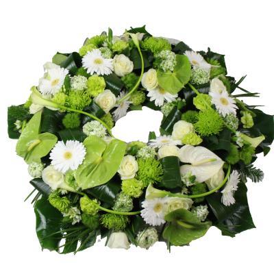 la fontaine fleurie couronne de fleurs enterrement. Black Bedroom Furniture Sets. Home Design Ideas